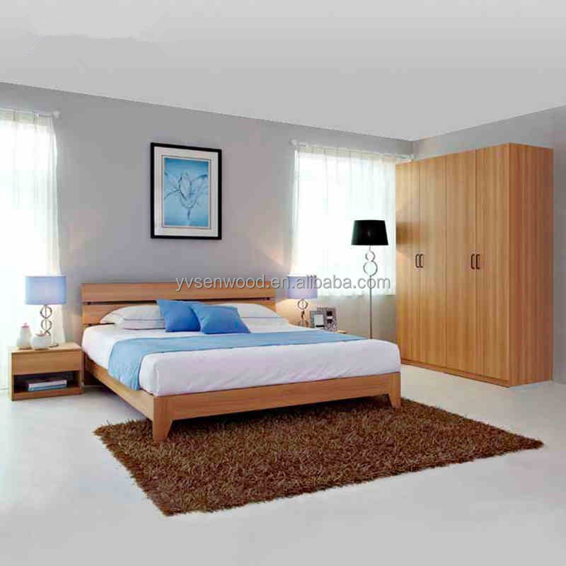 China factory top quality cheap modern design wood bedroom furniture set buy cheap bedroom for Cheap new furniture