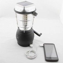 Solar lantern with mobile phone charger, Portable USB Hand crank Dynamo Rechargeable small USB solar LED home solar systems