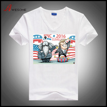 Bulk sale cheap election t shirt plain white t shirts for promotion wholesale china