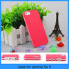 For iphone 5 case Hot Pink Silicone Rubber Matte Hard Bumper Case Cover Skin For iPhone 5 5G (PT-I5211)
