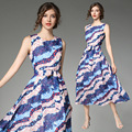 European custom sleeveless summer dress full print sublimation fashion dress for women