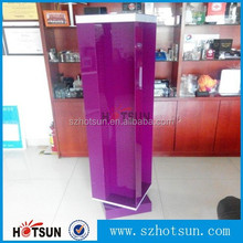 Fashional colorful advertising acrylic floor rotating display stand