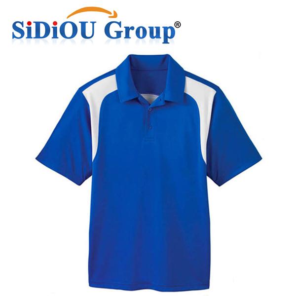Wholesale men's design color combination polo t shirt