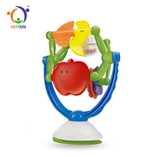 New Design Desktop Suction Cup Toy Baby Plastic Rattle With Music
