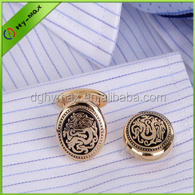 Stainless Steel Gold antique brass cufflinks for sales