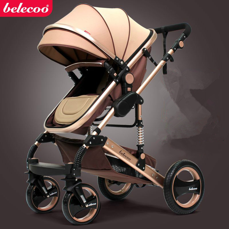Belecoo Aluminum Baby Product Stroller 3 in 1 Baby Stroller wholesale baby carriage factory