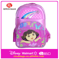 Lovely Dora Cartoon Pattern of Satin School Bags