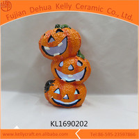 New design solar halloween pumpkin light china wholesale