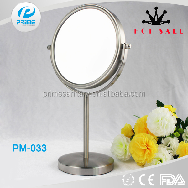 Factory Price Nickel plated Free Standing Cosmetic Mirror