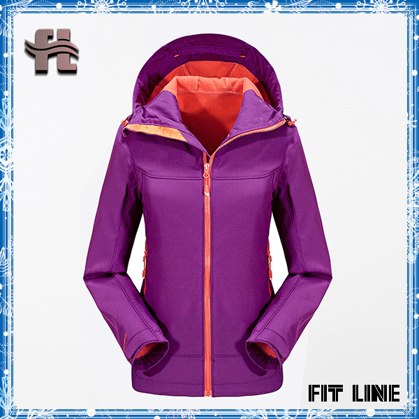 Womens waterproof hooded sweatshirt jacket waterproof jacket with fleece lining climbing camping high quality ladies tops