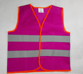 Best Selling Cheap road saft walking purple Reflective Vest, Reflective Safety Vest
