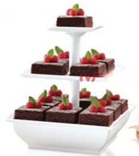 Wholesale Stock Small order Three Layer Cake Rack Cake Stand Snack Serve