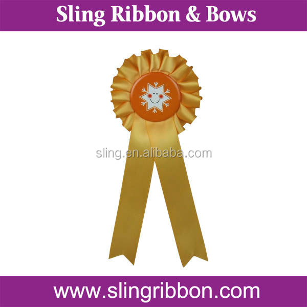 2015 Hot sale Custom Rosette Award Ribbon For Party