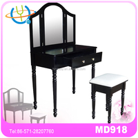 new design of french style wooden dressing table/ modern makeup table