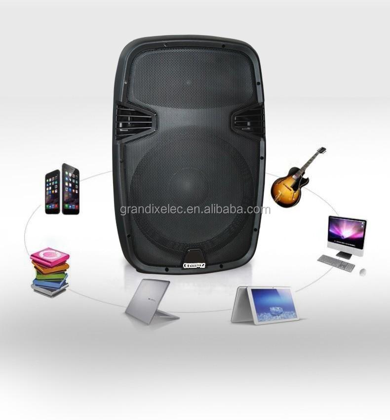 PAPJ-15ALP 15 pouce portable bluetooth boîte de haut-parleur haut-parleur amplificateur boîte