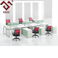 Wood and Metal Office Workstation Office Knock Down Furniture