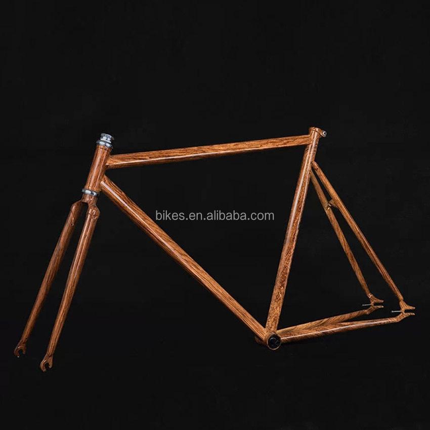 De Madera hecho a mano Grain700C Fixie Bicicleta de carretera luz ...