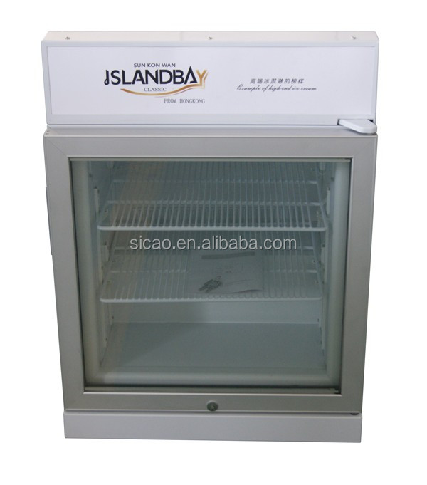 White/black +logo design is available ice cream freezers for sale