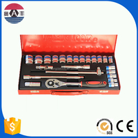 24pcs chrome vanadium car repair tool set socket set