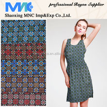 discharge print rayon shaoxing fabric supplier