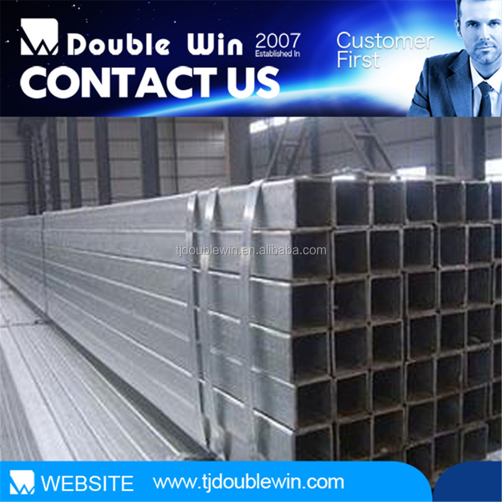 Doublewin galvanized square steel pipe/gi square steel pipe/toilet bathroom pipe buidlind materials