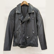 Classic mens clothing suppliers wholesale custom PU leather bomber jacket/coat