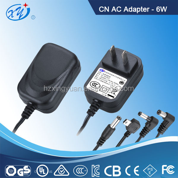 ac adapter power cord battery charger / CCC 6W ac dc adapter for smart phone