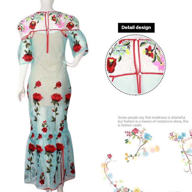 Hot Selling Pretty Floral Print Flowy Chiffon women vintage dress