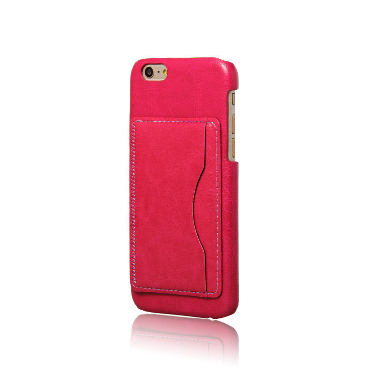 Wholesale PC back Leather phone case with card holder for iphone 6S