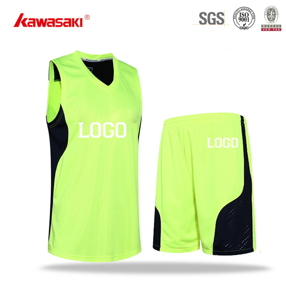 Kawasaki Latest Design Best Green Color Dry Fit Basketball Jersey