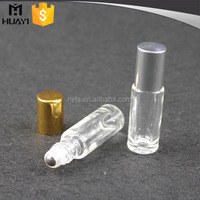 5ml glass roll on bottle with stainless steel roller ball and aluminium cap