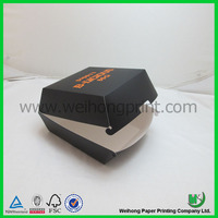 food grade ivory board or white board material paper burger box