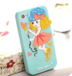 custom ecofriendly silicone mobile phones cover for girls