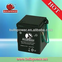 Maintenane free SLA lead acid 12v 2.5AH 3ah motorcycle battery 12v2.5ah