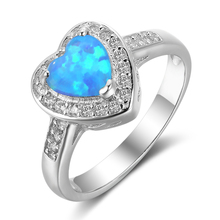 High quality 925 silver aquamarine engagement ring