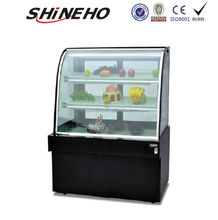 W407 refrigerated produce display cooler/cheap display cabinet