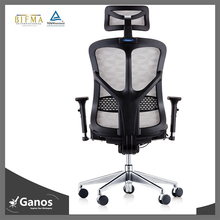 aluminum base white office chair