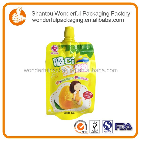 Roll film food packaging plastic bag with handle for jelly