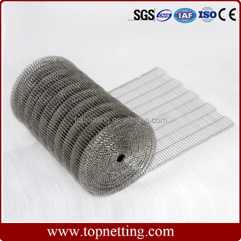 stainless steel flat flex wire mesh conveyor belt for Chocolate