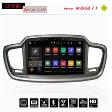 LPYFRG 2G ram android 7.1 car video dvd stereo for KIA sorento 2015 2016 car stereo radio gps navigation steering wheel control