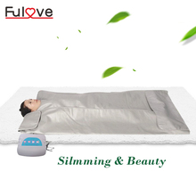 Three zone sauna infrared body wrap far infrared sauna thermal hot blanket machine slimming blanket