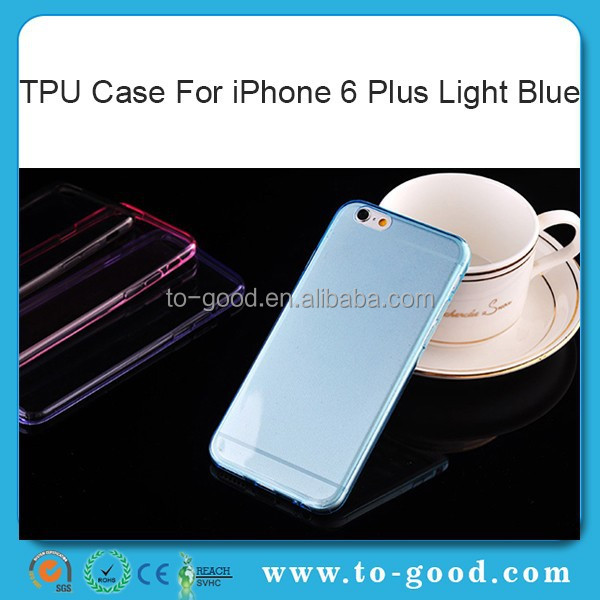 Wholesale Alibaba Bumper Cell Phone Case,TPU Soft Bumper For iPhone 6 Case (Light Blue)