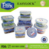 china manufacture plastic 2014 stackable silicone lunch box with lid