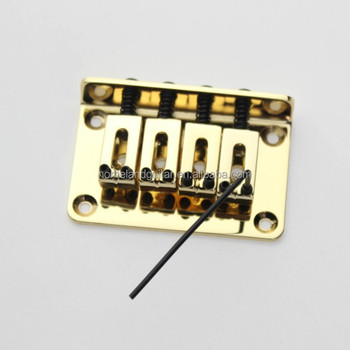 Gold Bass Guitar Bridge for 4 String