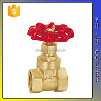 "LINBO-C960manufacturer yellow brass color/original no lead female 600 wog ms58 dn100 6 8 4 5"" inch copper brass gate valve cover"