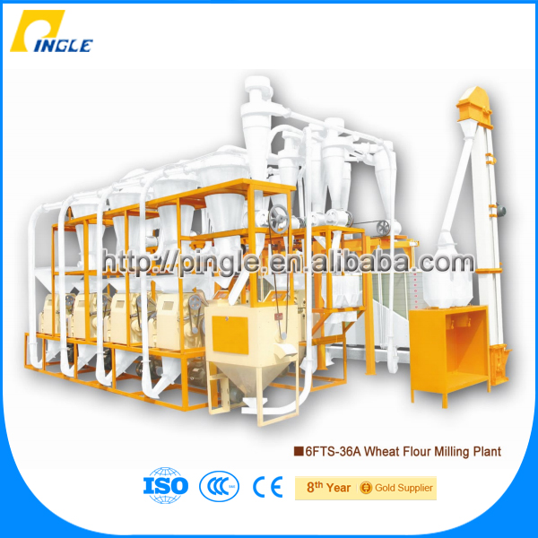 28.7*7.5*5 flour mill plant 26t/24H-36t/24H rice flour processing machine