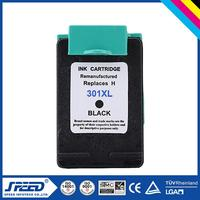 Best Price refillable ink cartridge auto reset chip for hp 301 with Original Ink