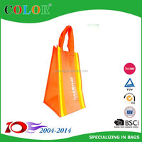 80g red color non woven designer glass bag,wine bag,bottle bag