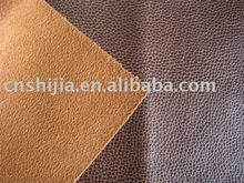 PU leather for sofa with suede backing