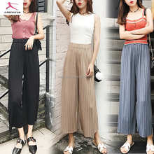 Ladies fashion pleats ady baggy please harem pants for women 2017